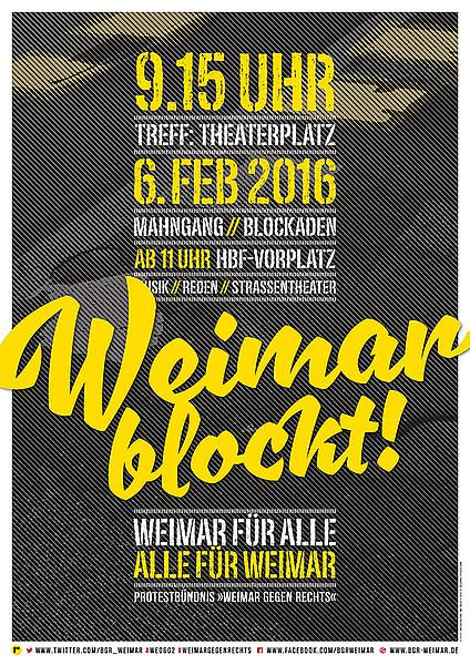 BgR-WeimarGegenRechts16-Plakat.indd